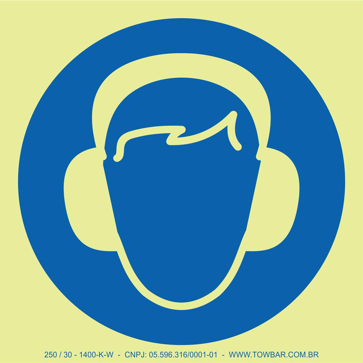 Wear Ear Protection  - Towbar Sinalização de Segurança
