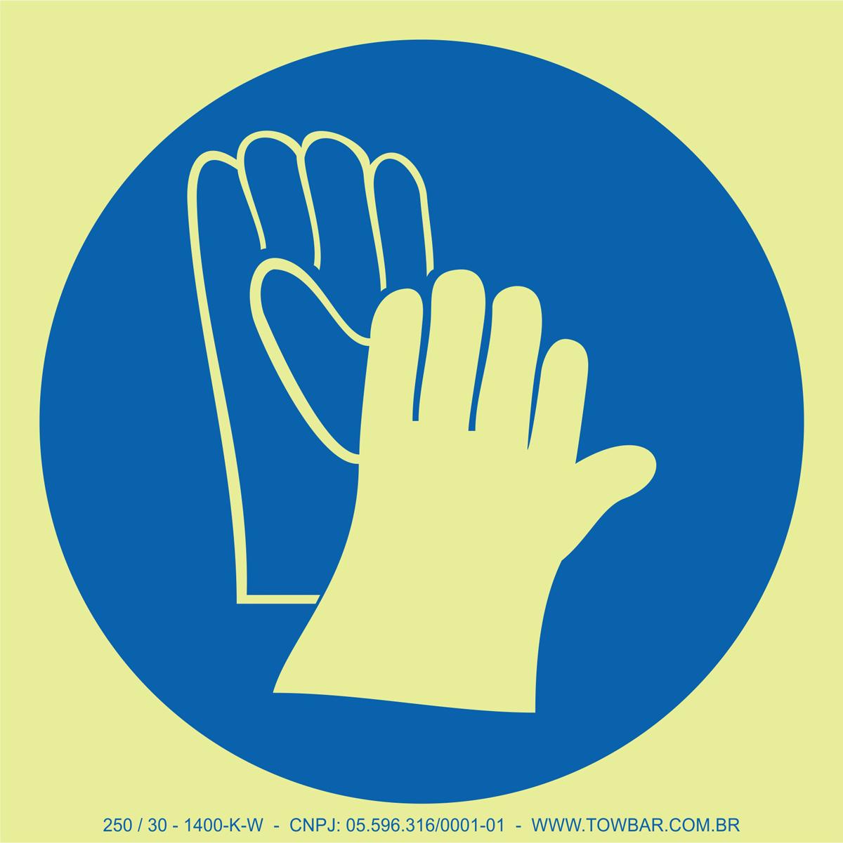 Wear Gloves  - Towbar Sinalização de Segurança