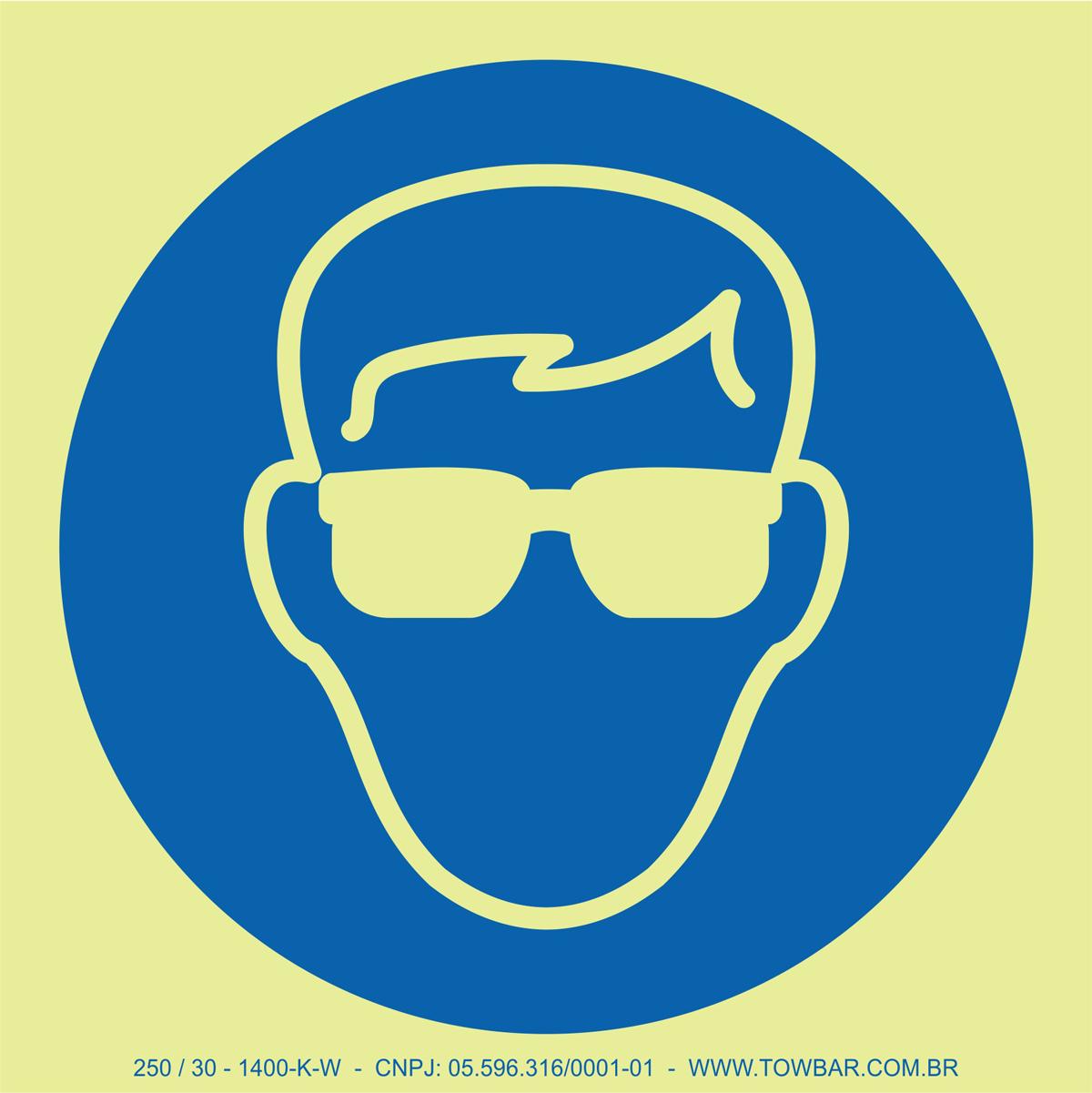 Wear Goggles  - Towbar Sinalização de Segurança