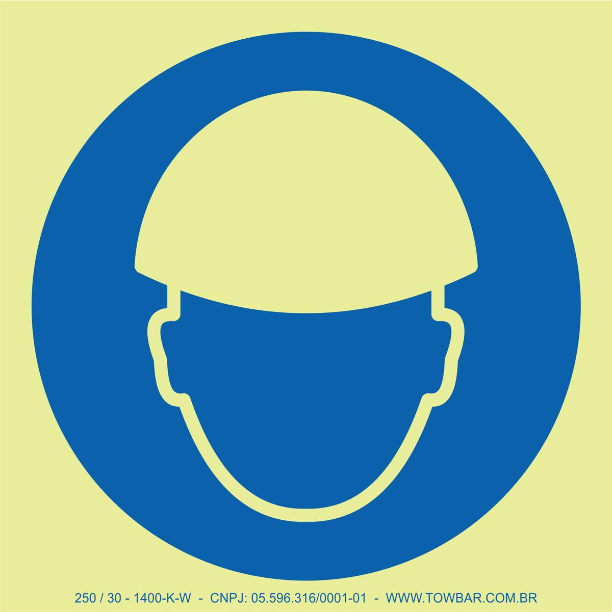 Wear Helmet  - Towbar Sinalização de Segurança