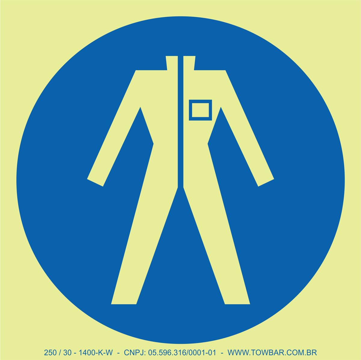Wear Protective Clothing  - Towbar Sinalização de Segurança