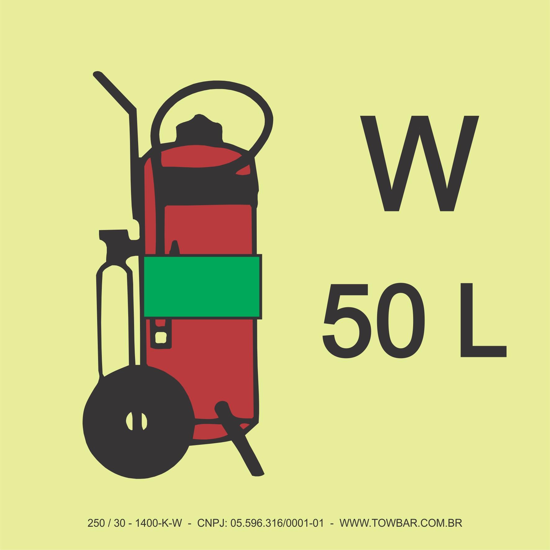 Wheeled Water Fire Extinguisher  - Towbar Sinalização de Segurança