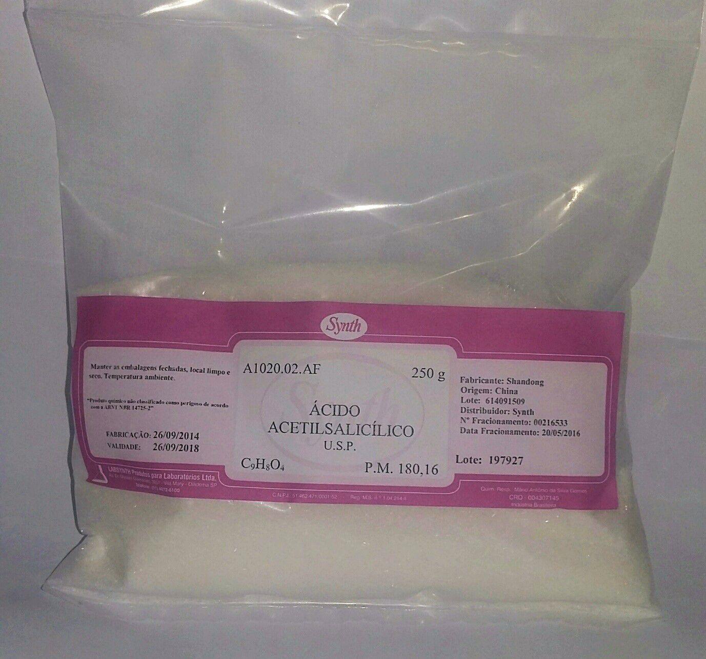 Ácido Acetil Salicilico USP 250g