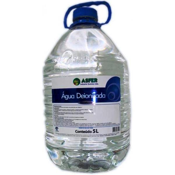 Água Deionizada com 5 litros - ASFER