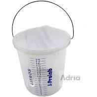 Balde em Plástico Polipropileno, Graduado, Com Bico, Com Alça - Capacidade 20Litros JP