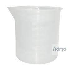 Copo Becker de Plástico Graduado em Alto Relevo - Capacidade 1000ml Poly