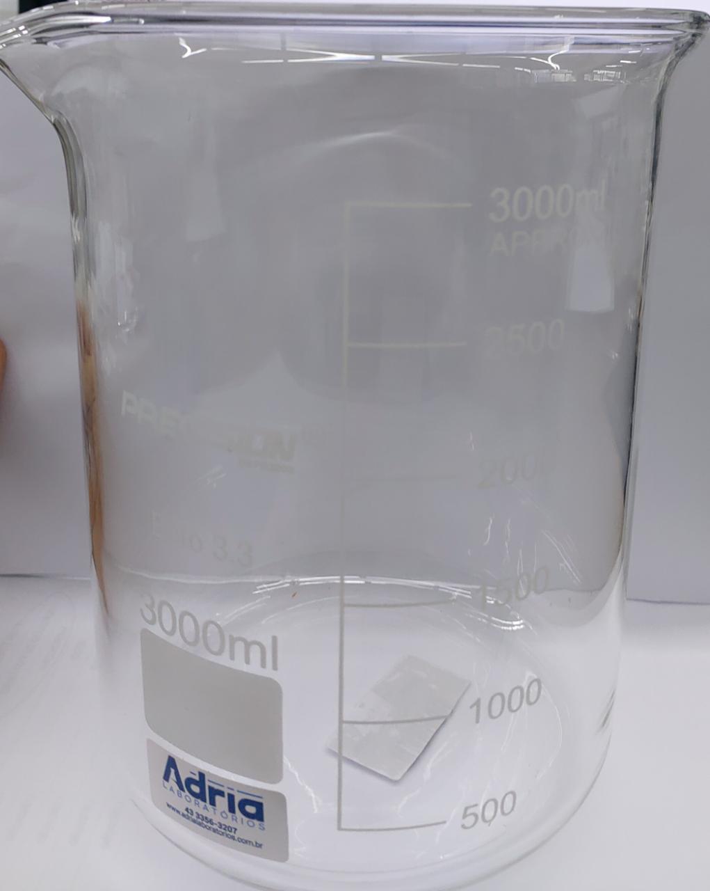 Copo Becker de Vidro (griffin) FB Graduado - Capacidade 3000ml Precision