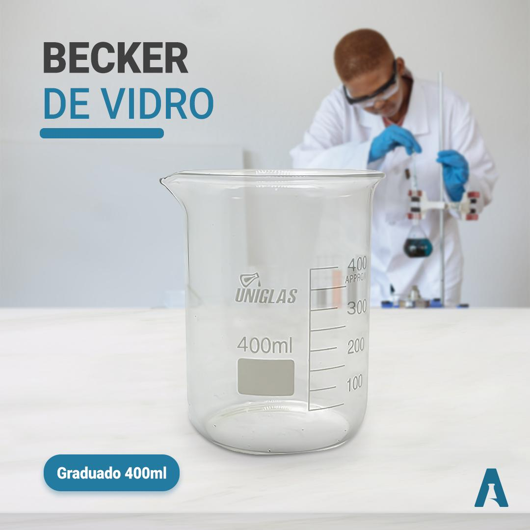 Copo Becker de Vidro (griffin) FB Graduado - Capacidade 500ml Uniglas