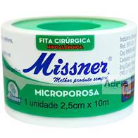 Fita micropore 25mmx10m branco c/ capa