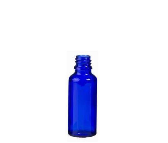 Frasco vidro Din Europeu 30ml Azul R18 c/10un