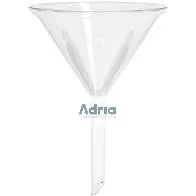 Funil de vidro Analitico liso 100mm/125ml
