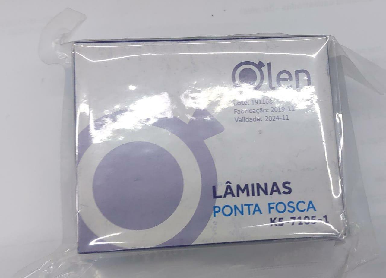 Lamina para microscopia- fosca sem lapidar-  c/ 50 laminas