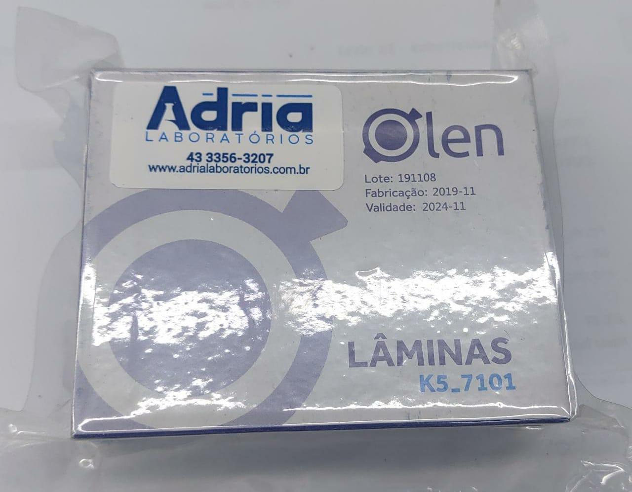 Lamina para microscopia- lisa lapidada-  c/ 50 laminas