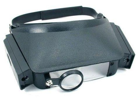 Lupa de cabeça pala com 3 lentes de aumento e 2 luz