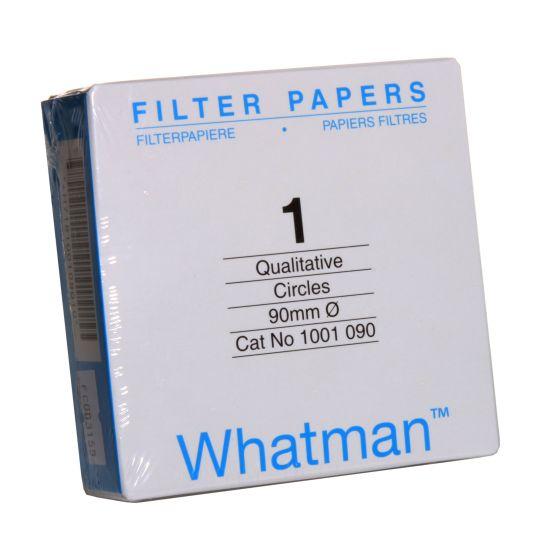 PAPEL FILTRO QUALITATIVO TIPO 1 WHATMAN 9,0 cm/ 88g -- c/100 folhas