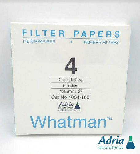 Papel Filtro Qualitativo Tipo 4, Diâm 125mm, Cat Num 1004-125 C/100 Folhas Whatman