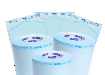 Papel para Esterilização em Autoclave, Grau Cirúrgico, Rolo 80mmx100m PackGC
