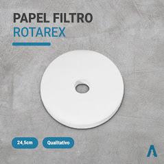 Papel Rotarex 24,5cmØ Com Furo 4,5cmØ - C/100Folhas