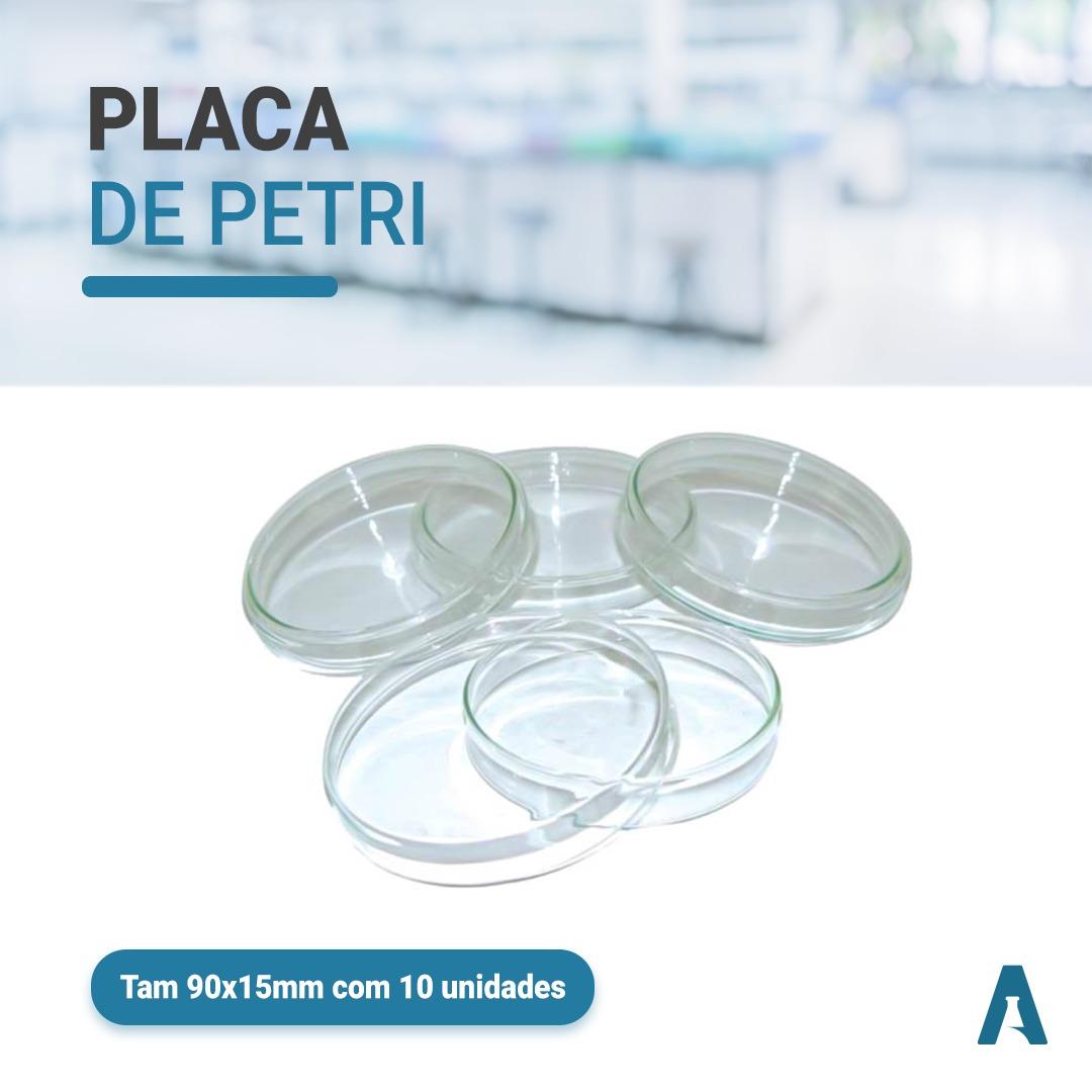 Placa de Petri Descartável Estéril - Tamanho 90x15mm - Pacote C\ 10 Unidades  First