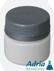Pote para Cápsula, 40ml Plástico, Branco Leitoso, Com Tampa Rosca Lacre Branca R40 - c/10 Unidades Injeplast