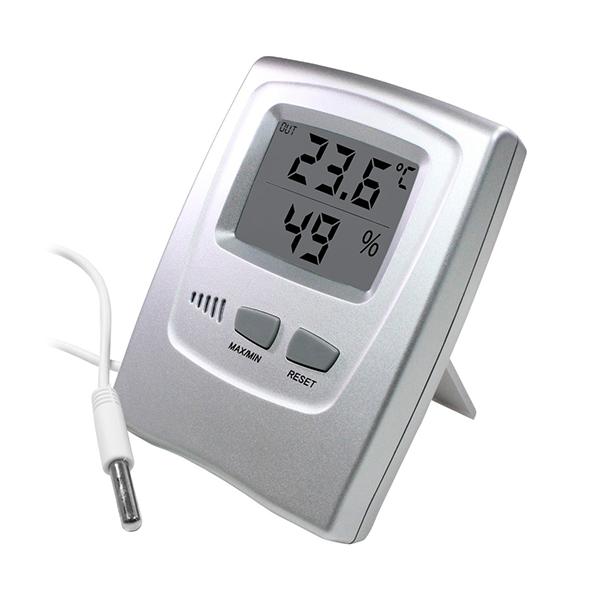 Termohigrômetro Digital Max e Min com Sensor - REF 7666