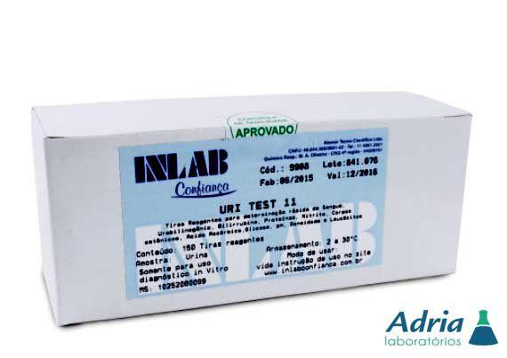Uri Teste para Urina, Determinação 11 Áreas  C/150 Tiras Inlab