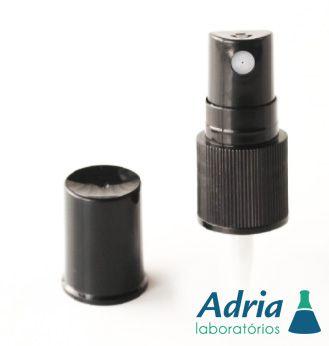 Válvula Plástica Spray Rosca 18 Preta Estriada c/10un