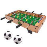 Pebolim Totó Futebol De Mesa 18 Jogadores 69x37x24cm