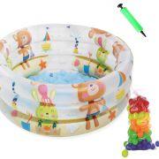Piscina de bolinhas - Infantil Inflável Urso 28L criança - com 50 Bolinhas