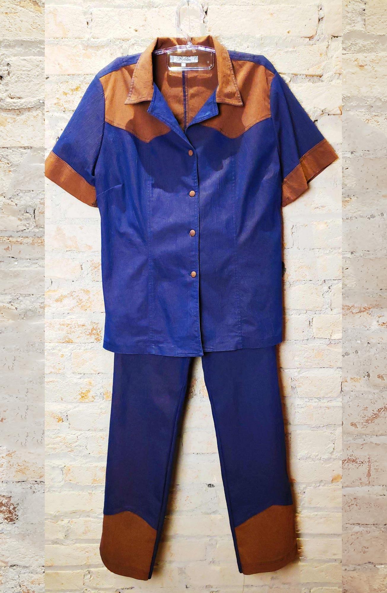 Conjunto azul anos 80