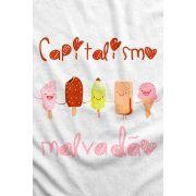 Camiseta - Capitalismo Malvadão - Sorvetes