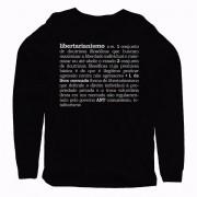 Camiseta Manga Longa - Libertarianismo Definição