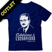 OUTLET - Camiseta Hayek - Coletivismo é Escravidão