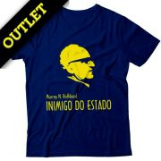OUTLET - Camiseta Rothbard Inimigo do Estado