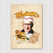 Placa  - Friedman's Burger - Não Existe Almoço Grátis