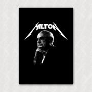 Placa - Milton Friedman (Metal)