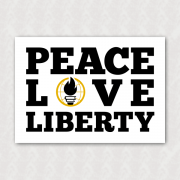 Placa -   SFLBR - Peace Love Liberty