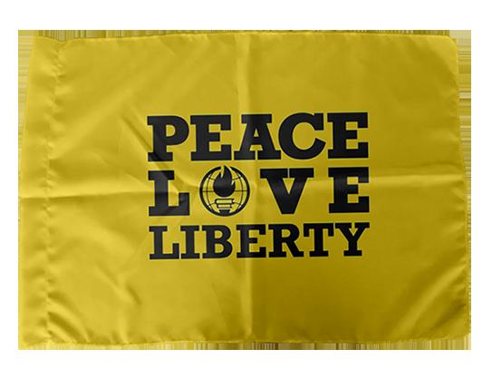 Bandeira Peace, Love, Liberty