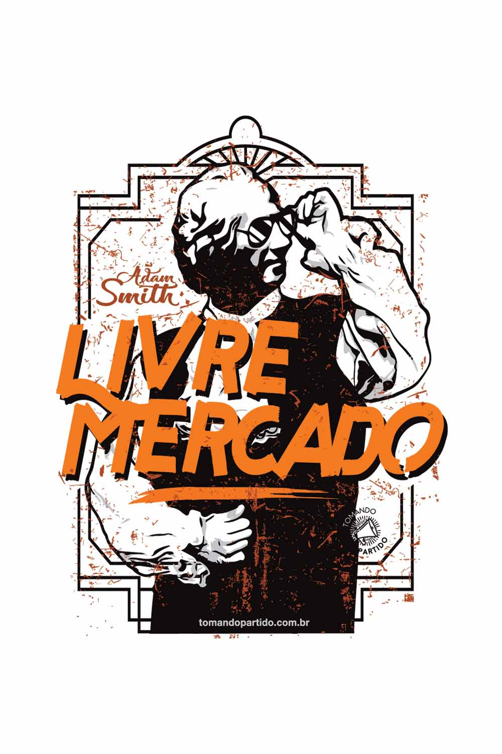 Camiseta  - Adam Smith Livre Mercado