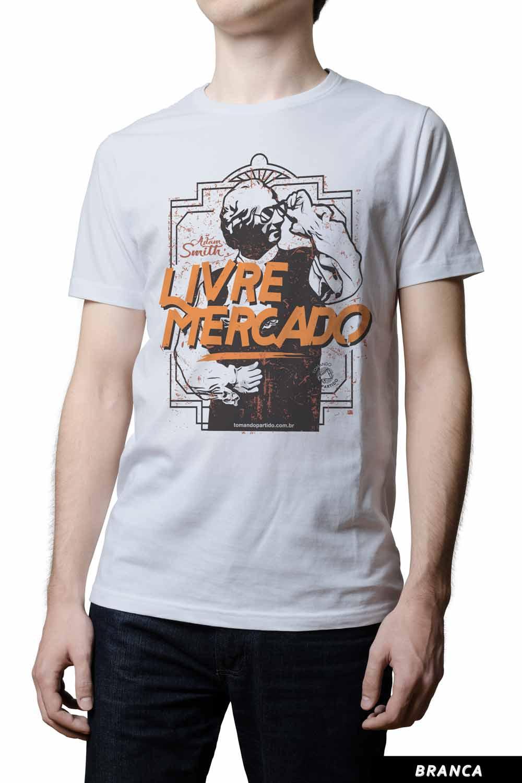 Camiseta  - Adam Smith Livre Mercado