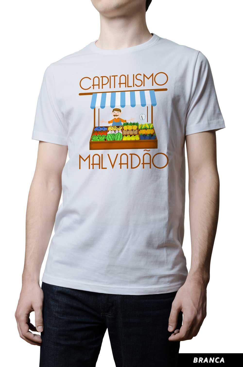 Camiseta - Capitalismo Malvadão - Feirante