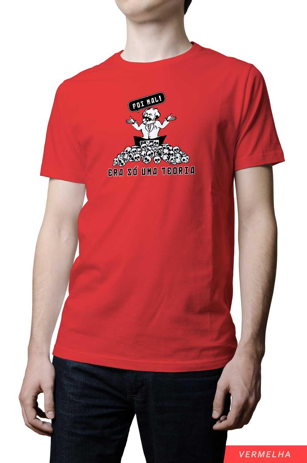 Camiseta - Foi Mal! Era só uma teoria.