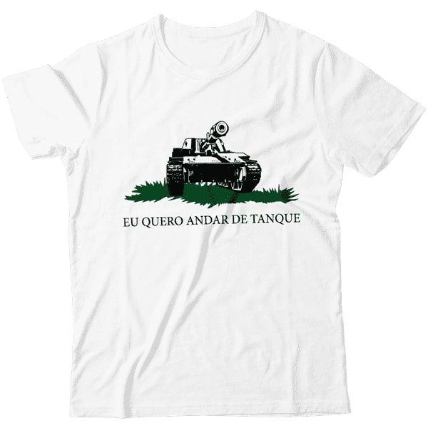 Camiseta - Gadsden - Eu Quero Andar de Tanque