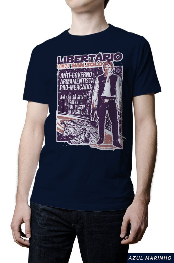 Camiseta  - Han Solo Libertário