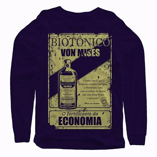 Camiseta Manga Longa - Biotônico Von Mises