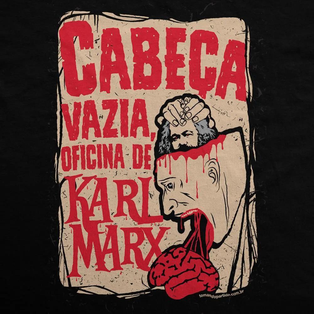 Camiseta Manga Longa - Cabeça Vazia, Oficina de Karl Marx