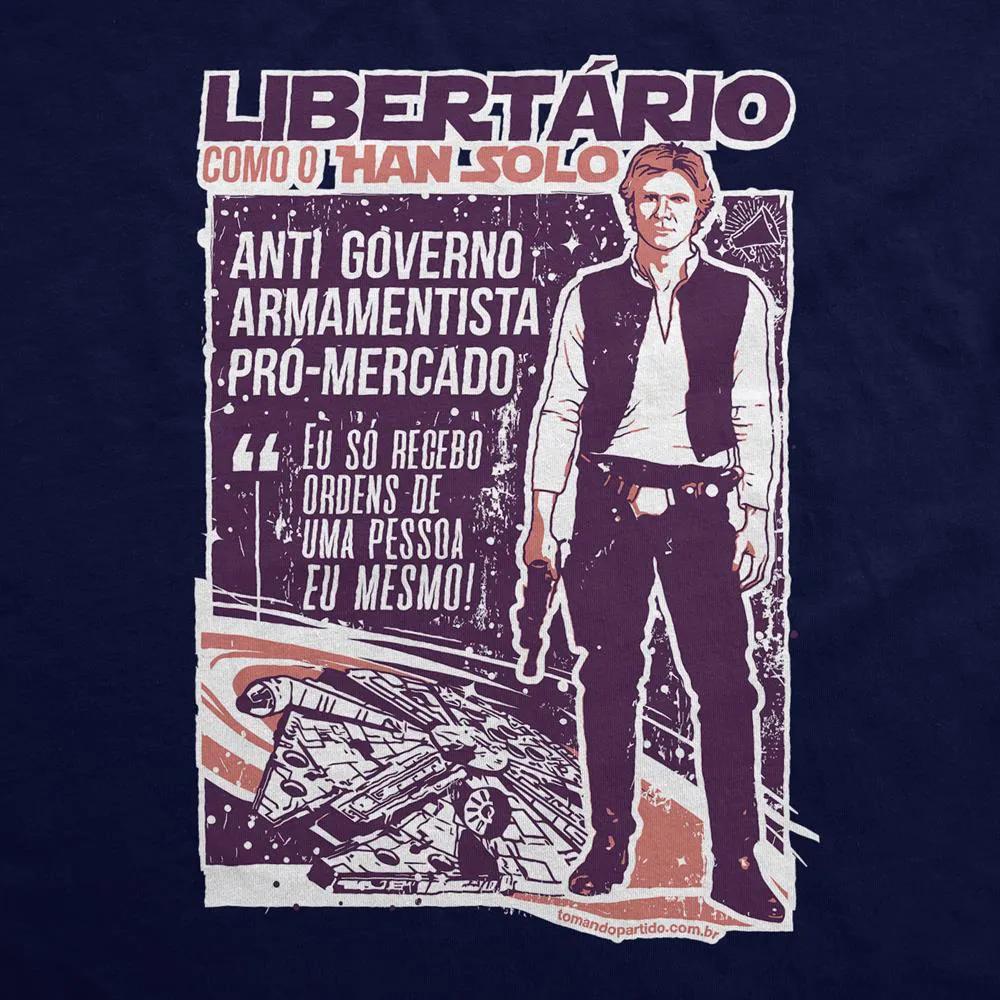 Camiseta Manga Longa - Han Solo Libertário
