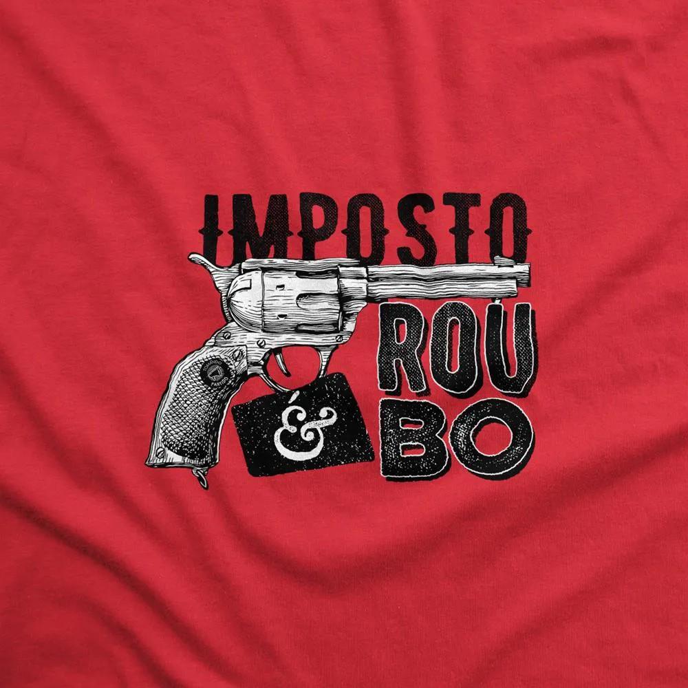 Camiseta Manga Longa - Imposto é Roubo - Revólver