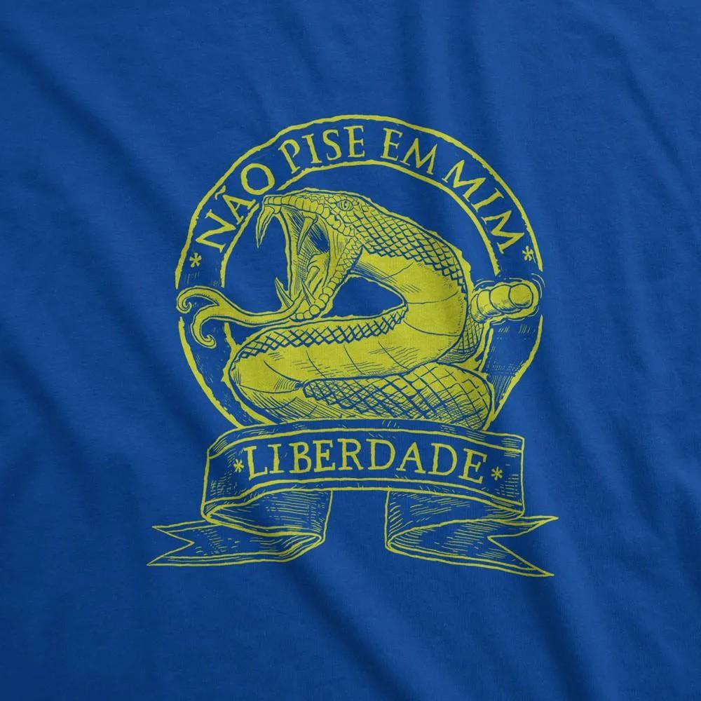 Camiseta Manga Longa - Não Pise Em Mim - Liberdade
