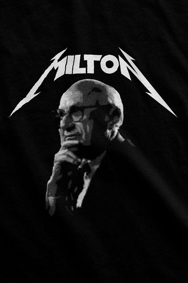 Camiseta - Milton Friedman (Metal)